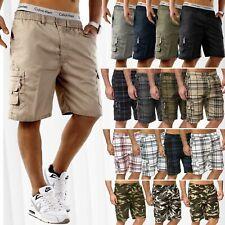 Hommes Bermuda 3/4 Cargo Shorts Pantalon d'été Capri Casual basic Vintage
