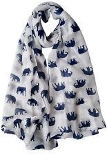 Elephant Print Scarf Cute Animal Wrap Scarves Ladies Womens Festive Xmas Shawl