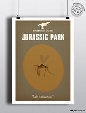 JURASSIC PARK - Minimalist Movie Poster Posteritty Minimal Dinosaur Amber Print