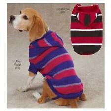 NEW Zack & Zoey HOODED Striped Knit Dog Pet Sweater  xs Small S/M