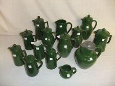 C4 Pottery Denby Bourne Deep Green Stoneware vintage Coffee pots Jugs rare 4C4B