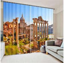 Roman Forum View 3D Blockout Photo Curtain Printing Curtains Drape Fabric Window