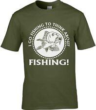 pêche T-shirt Fisherman Chemise Pêcheur T-SHIRT I GO pêche pour Think About