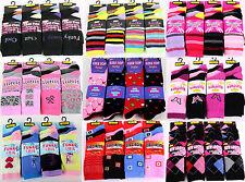 6 Pairs Ladies Women's Coloured Design Socks Comfy Stylish Designer Adults Size