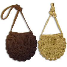 Handwoven Straw Bag, Boho Street Crochet Hemp Crossbody/Shoulder Bag BS24X