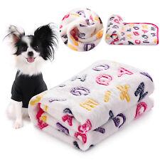Dog Cat Puppy Blankets Soft Warm Fleece Small Medium Large Pet Bed Mat Cute Gift
