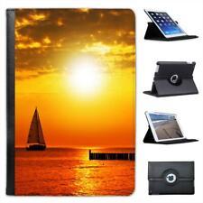 Golden Sun ajuste en mar Con Estuche De Cuero Tipo Folio Yate En Puerto Para Ipad Mini