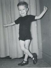 VINTAGE DANCING LITTLE BOY TINY DANCER TAP SHOE MOVES TWIRLING LEGS OLD PHOTO