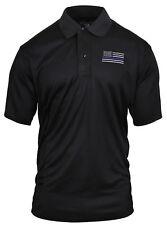 Thin Blue Line Police US Flag Polo Shirt Moisture Wicking Fabric Rothco 2812
