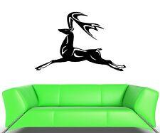 Wall Decal Deer Elk Horn Lan Running Jumping Flying Speed Vinyl Stickers (ed269)