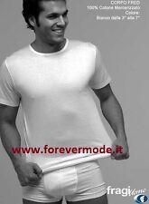 3 T-shirt uomo Fragi manica corta in cotone mercerizzato, collo basso art Fred