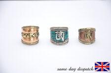 Adjustable Handmade Tibetan Buddhist Carved Om/Om mani padme hum.[Amulet rings]