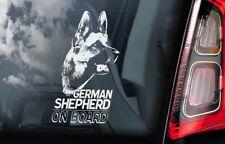 German Shepherd - Car Window Sticker - Alsatian Dog on Board Sign GSD Decal -V01