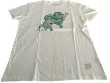 RETRO BRAND t-shirt uomo mezza manica avorio 100% cotone MADE IN USA