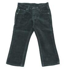 9448R pantalone bimbo ARMANI JEANS JUNIOR velluto verde pant velvet kid