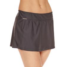 Zero Xposur Knit Action Skirtini Swim Bottoms Size 12 Slate Msrp $48.00