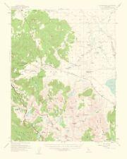 Topographical Map Print - Mt Morrison California Quad - USGS 1963 - 23 x 28.73