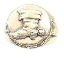 Ring men jackboots musketeer 1279 sterling silver 925