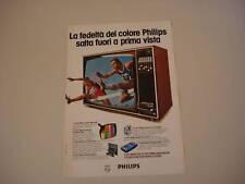 advertising Pubblicità 1976 TELEVISORE PHILIPS