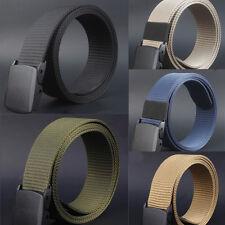 Fashion Wild Mens Canvas Belt Metal Automatic Buckle Dress Waistbands Belt Strap
