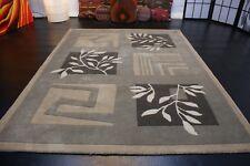 nr 113A Hochwertiger Teppich Handtufted aus Wolle Grau Hoch Tief Struktur Neu