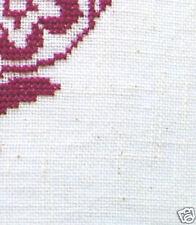 TOILE DE LIN 12 fils/cm - coloris BLANC - 35 x 25 cm