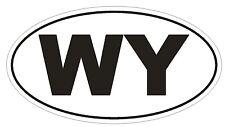 WY Wyoming EURO OVAL Bumper Sticker or Helmet Sticker D496 Laptop TABLET