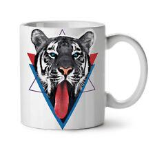 Tiger Tongue NEW White Tea Coffee Mug 11 oz   Wellcoda