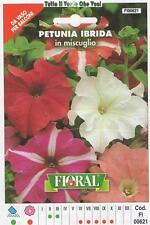 FLORAL - BUSTA SEMENTI PETUNIA IBRIDA IN MISCUGLIO - DA VASO PER  BALCONI