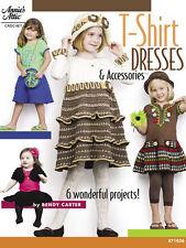 Crochet Pattern Book T-SHIRT DRESSES & Accessories ~ Hats, Purse, Shrug +
