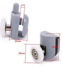 8PCS Single Shower Door Rollers/Runners/Pulleys Top or Bottom 23mm/25mm Wheel