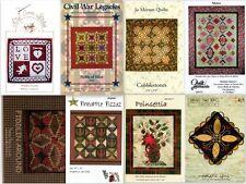 Choice Quilt Patterns Cobblestones, Poinsettia, Fiddlin Around, Civil War, Metro
