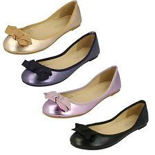 femmes f8976 Ballerines facile à enfiler plat chaussure avec détail de noeud par