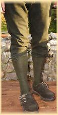 Trachtenstrümpfe Kniebundstrümpfe Strümpfe  links/links eingestrickt oliv
