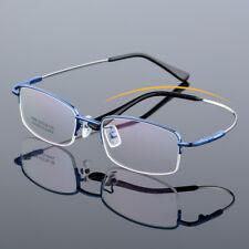 e17062d2b59 Half-rim Flexible Memory Alloy Eyeglass frames WOmen Men Eyewear Glasses  Blue