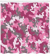 5bf91d551962 Pink Shower Curtain Cute Feminine Camo Vibrant Print for Bathroom