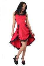 Robe brocart rouge tango victoria à bretelle élégante gothique Phaze - Golden St