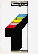 Catalogo generale TRIENNALE DI MILANO XVI . Alinari 1982. I edizione
