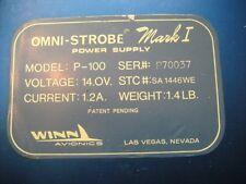 Aircraft Omni-Strobe Power Supply 14V Model: P-100