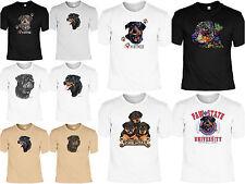 Rottweiler Motiv T-Shirt - Hunderassen T-Shirt Zeichnung Rottweiler Welpenmotiv