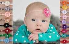Baby Infant Toddler Girls Single Petite Flower with diamante Headband 0-18 mos