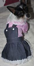 Kleid Jeans Hundekleid Chihuahua Yorkshire Hund XS S M L XL