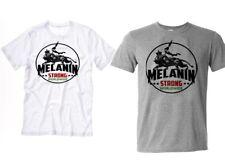 Black History Month T-Shirt Melanin Strong Huey P Newton, Malcolm X Angela Davis