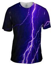 Yizzam- Violet Lightning Storm - New Men Unisex Tee Shirt XS S M L XL 2XL 3XL 4