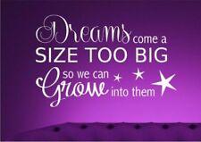 DREAM BIG BOYS GIRLS BEDROOM WALL ART QUOTE PHRASE STICKER VINYL DECAL MURAL