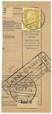 Germany 1928 80pf on EF paketkarte parcel card Euro 75.00