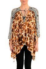 Just Cavalli Women's Graphic Designed Silk Tunic Blouse Top Size S M L