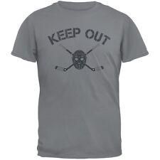 Hockey Goalie Keep Out Storm Grey Adult T-Shirt