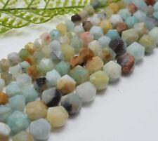 Faceted Triangle Diamond Semi-Precious Amazonite Mixed Colours Gemstone Beads