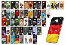 Handy Hülle HTC One M 7 Hardcase Schutzhülle Handyhülle Case  Hülle Motive